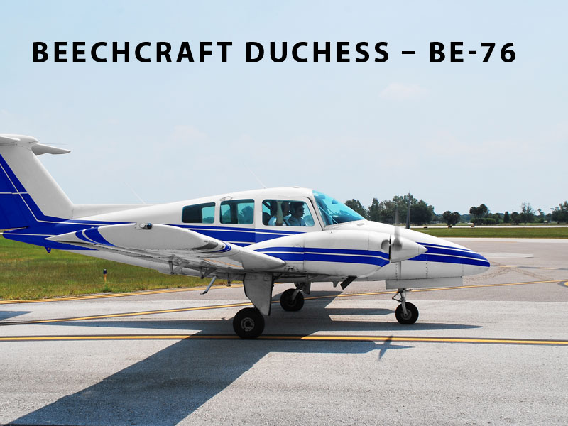 Beechcraft BE-76 Duchess Pilot Training School Aircraft
