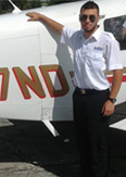 Daniele flight school graduate at pan am career pilot academy