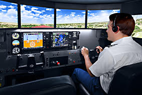 flight simulator for pilot training